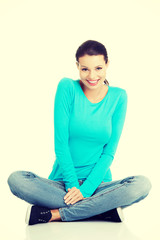 Young beautiful woman in casual clothes