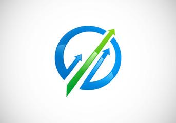 arrow business finance market vector logo