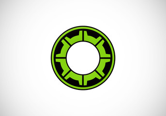 gear cog engine abstract vector logo