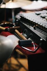 Xilofono e martelli prima di un concerto