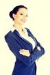 Portrait of young success businesswoman