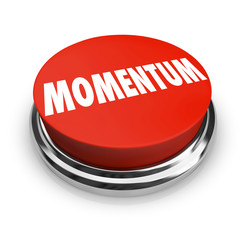 Momentum Word Red Button Moving Forward Progress Success