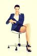 Beautiful successful businesswoman.