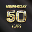 50 years anniversary greeting card. - 71068449