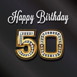 Leinwandbild Motiv 50th Happy birthday anniversary greeting card.