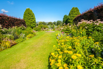 Beautiful landscaped summer garden