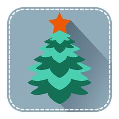 Flat avatar with Christmas fur tree