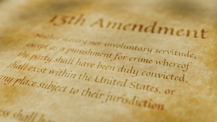 Historic Document 13th Amendment