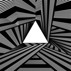 Light At The End Of Tunnel Triangle Exit Vector