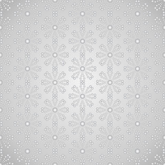 Silver Abstract Circle Flower Pattern on Pastel Color