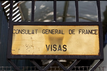 Consulat Général de France. Visas.