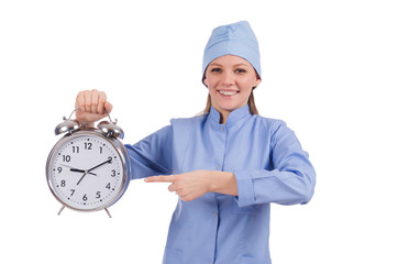 Woman doctor missing her deadlines