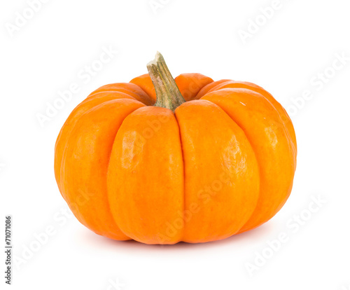Mini Orange Pumpkin Isolated on White - 71071086