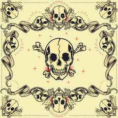 Skull and Ribbon Frames set 07