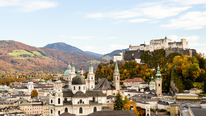 The Fortress and The old town of Salzburg