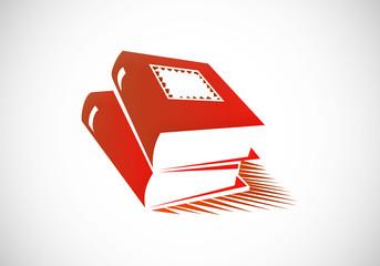 books abstract vector logo