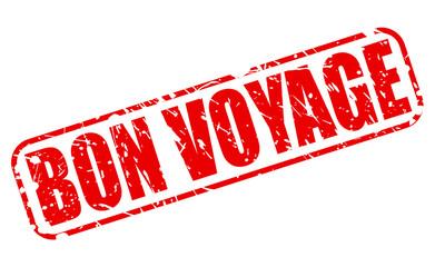 Bon voyage red stamp text
