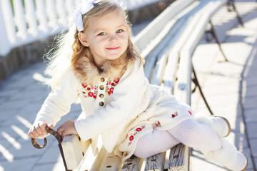 Little girl in an urban