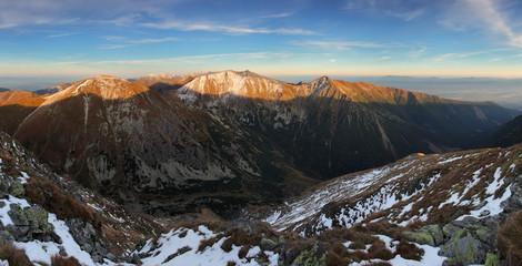 Panoramic view of West Tatras, Slovakia
