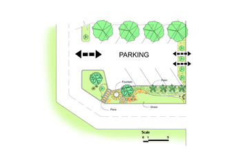 Parking lot garden design