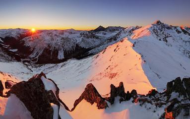 Night mountain - Tatras at winter