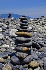 pebble on island, Lipe, Andaman sea, Thailand