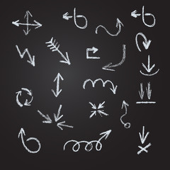 Arrows, lines, pointers  - hand drawn.