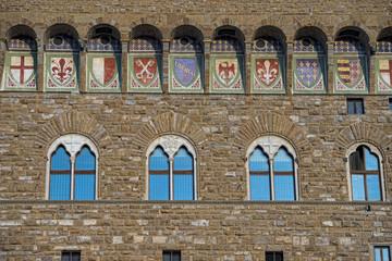 Florence Piazza della Signoria Tower Detail