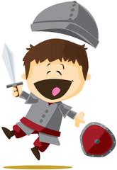 Soldat chevalier de conte de fée