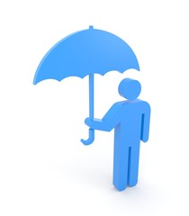 Person with umbrella