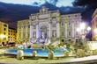 Leinwanddruck Bild - Roma - Trevi fountain, Italy