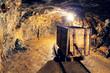Mine gold underground tunnel railroad - 71075258