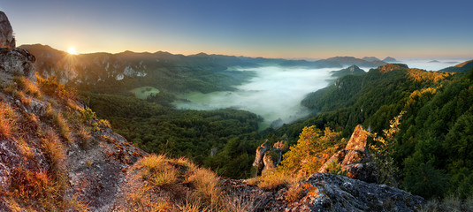 Rocky moutain at sunset - Slovakia, Sulov © TTstudio