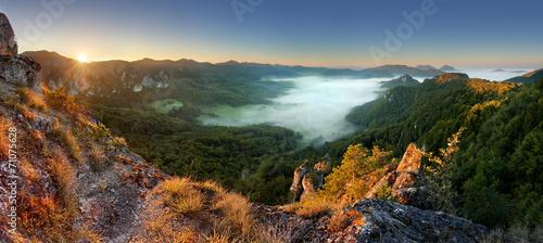 Rocky moutain at sunset - Slovakia, Sulov