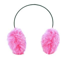 Pink furry ear muffs