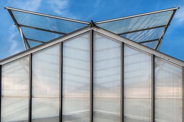 Dachkonstruktion eines Gewächshauses