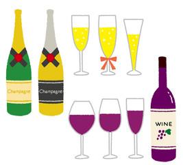 シャンパンとワイン