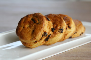 Raisins cream biscuits scones