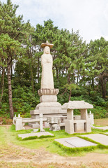 Buddhist temple in Busan, Korea