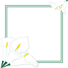 Card with flowers and place for text