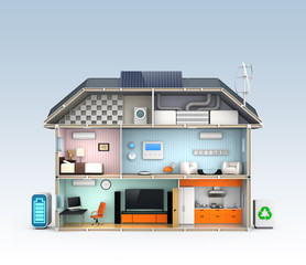 Energy efficient Home concept with copyspace
