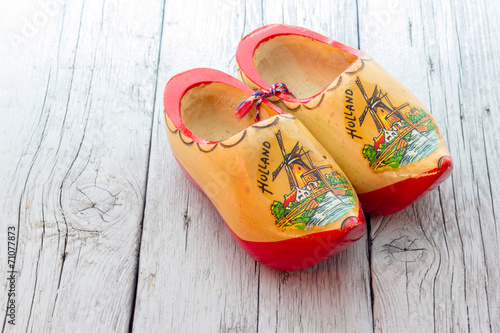 Foto op Canvas Amsterdam Wooden clogs