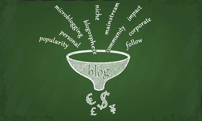 Blog chalkboard illustration