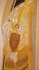 Bratislava - mosaic of archangel Michael in st. Sebastian church
