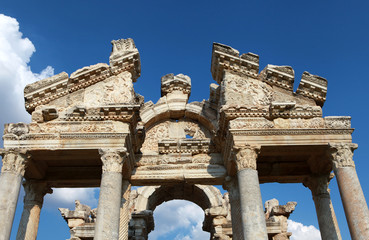 The Monumental Gateway in Aphrodisias Ancient City, Turkey.
