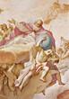Padua - The Creator. Fresco in church st. Justine