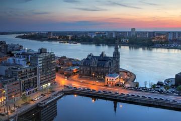 Aerial of Antwerp, Belgium