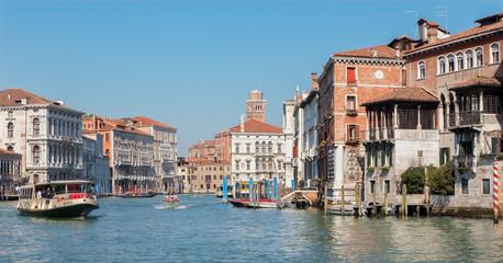 Venice - Canal Grande in full activity.