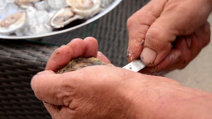 opening oyster