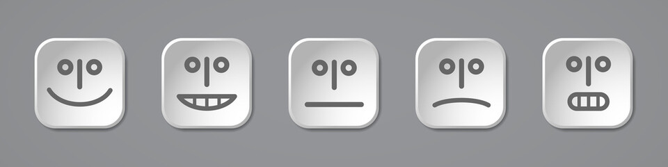 Five emoticons